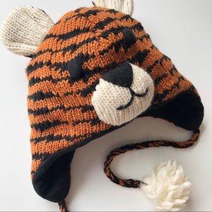 DeLux Tiger Wool Toque Beanie Winter Hat Kids